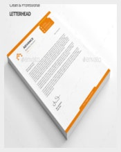 Custom Letterhead Vector EPS Template