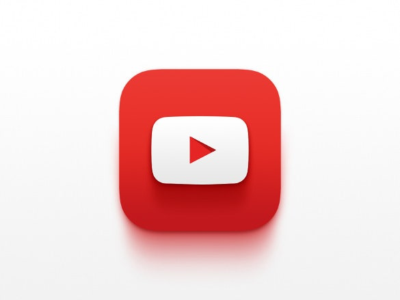 regular youtube icon template download