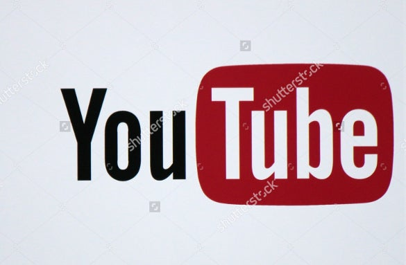 elegant official youtube icon template
