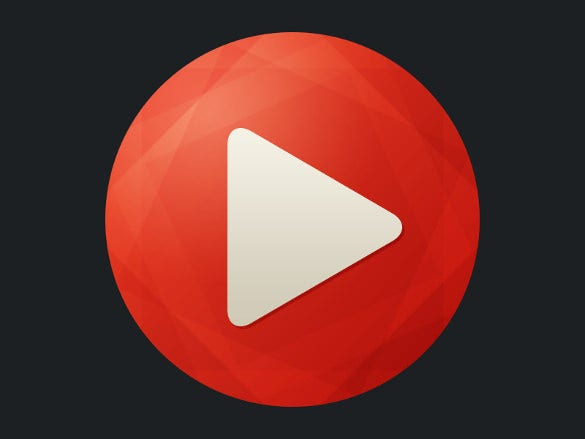 simple youtube icon