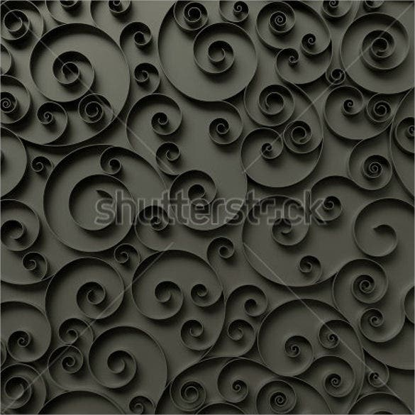 3d paper quilling ribbons design template 1