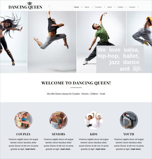 dance music html5 template