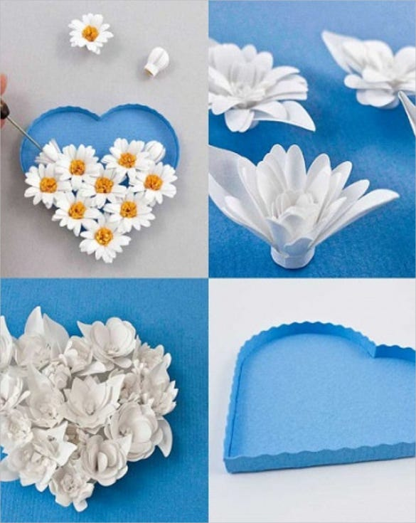 3d fringed flower paper quilling template