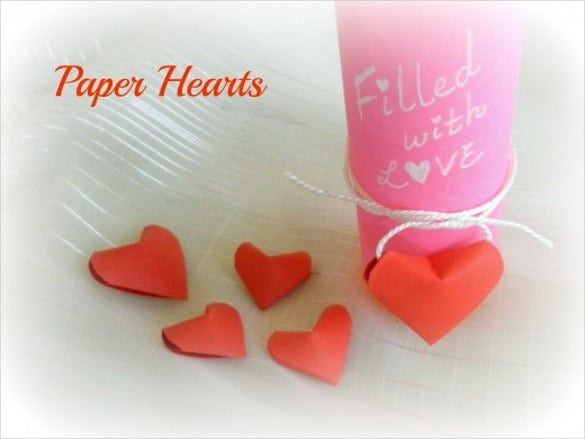 3d paper quiling love hearts design templates