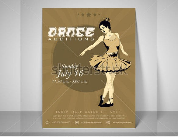 simple audition flyer template download