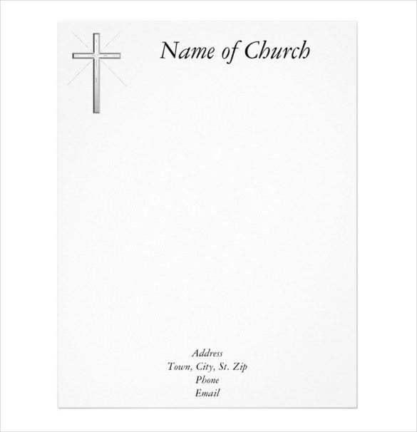 11 church letterhead templates free sample example format christian letterhead sample template spiritdancerdesigns Choice Image