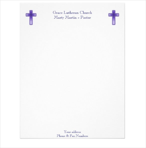 11 church letterhead templates free sample example format church or pastor letterhead example format spiritdancerdesigns Choice Image