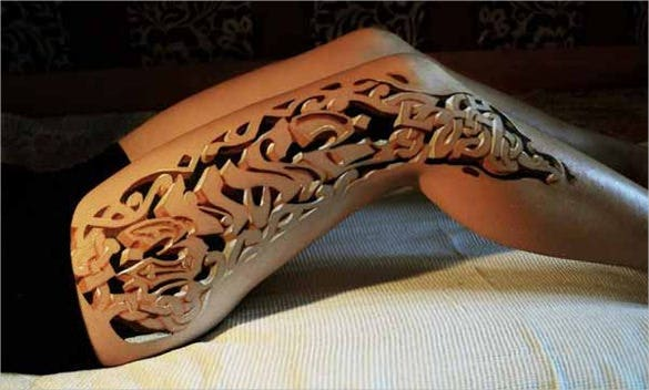 unique 3d art tattoos design template