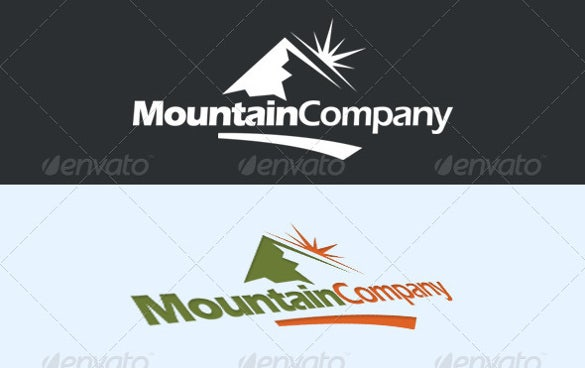 mountain company logo template