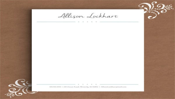 featured image personal letterhead template