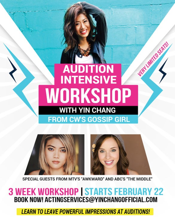 most visited attractive audition flyer template