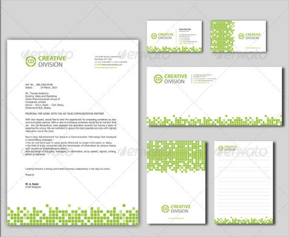 personal corporate stationery letterhead sample