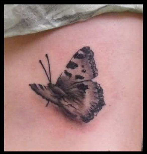 butterfly 3d art tattoo design template