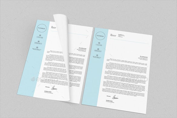 sample example format personal corporate letterheads bundle