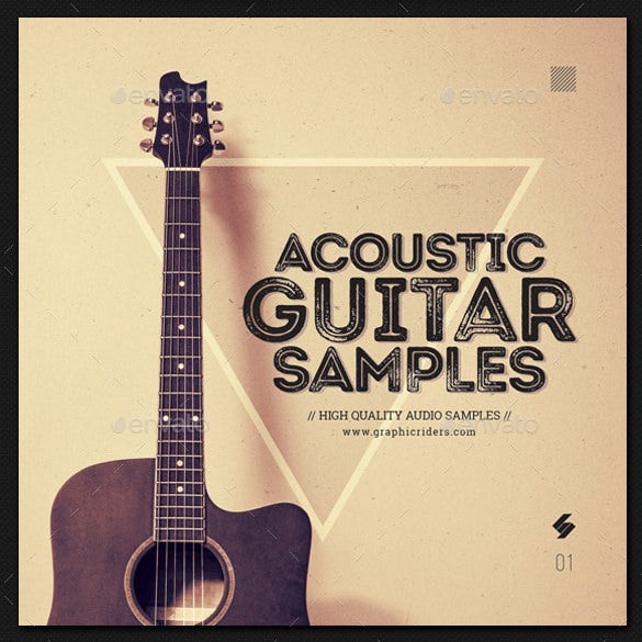 acoustic guitar samples cd cover template