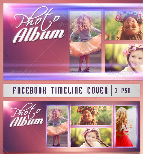 facebook timeline cover photo album psd format download