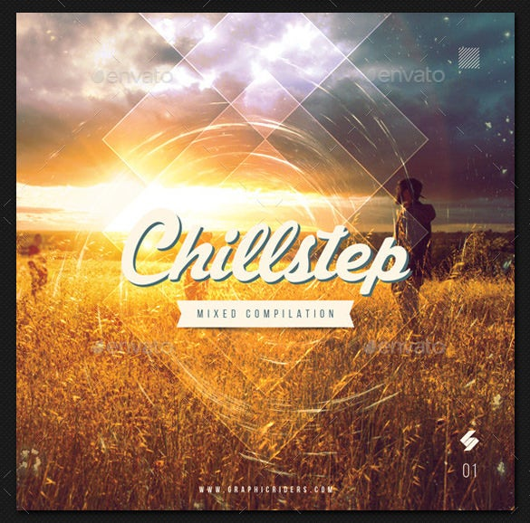 chillstep cd cover artwork template psd design download