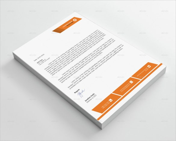 corporate letterhead sample format template