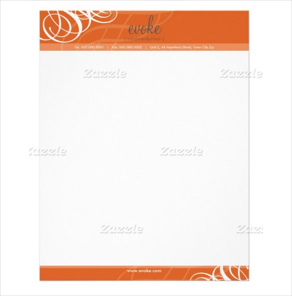 printable example corporate letterhead