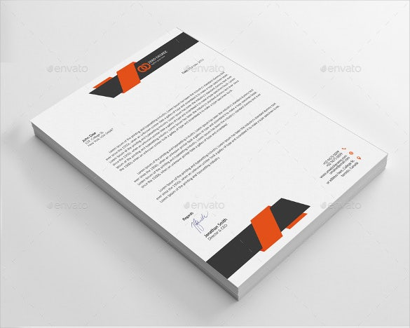 22example corporate letterhead template