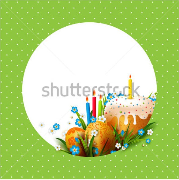 3d easter eggs flowers cake template