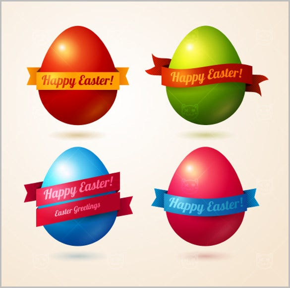 3d easter eggs collection design template
