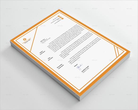format corporate letterhead template