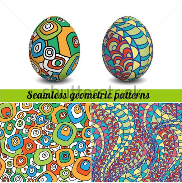 isolated 3d realistic easter eggs templates