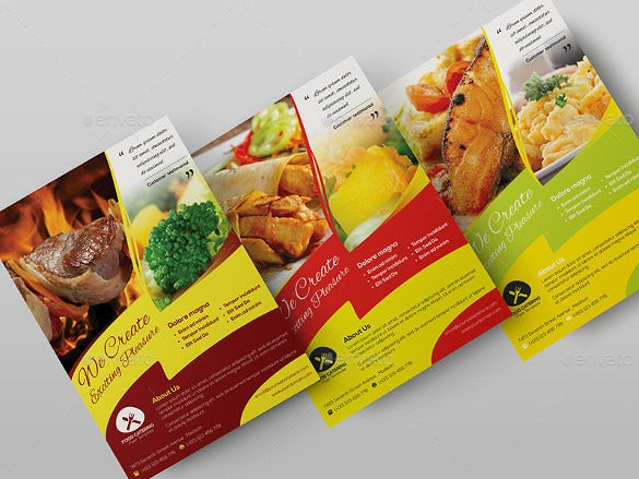 attractive catering flyer template