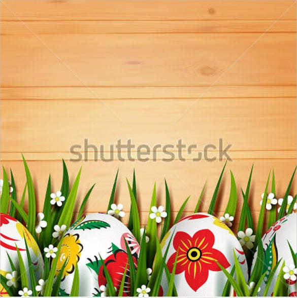 3d easter eggs grass template