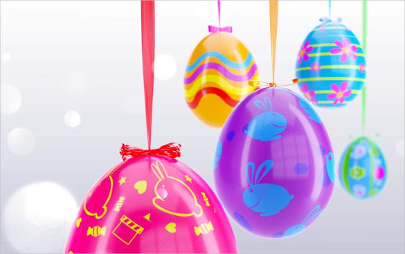 3d happy easter egg greeting template