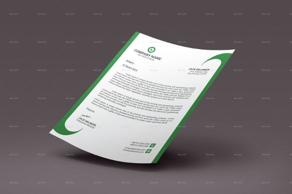 corporate letterhead sample example format template download