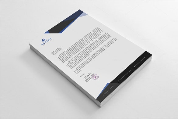 sample format corporate letterhead template download