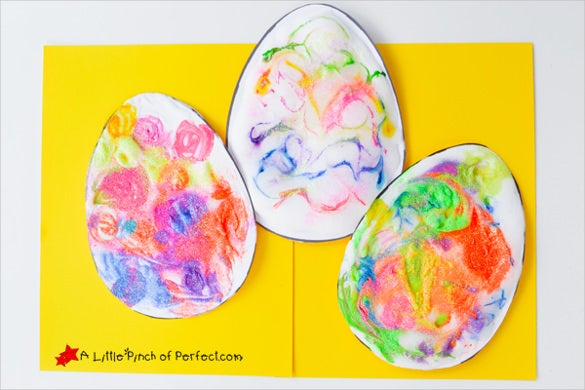 3d puffy paint easter egg template