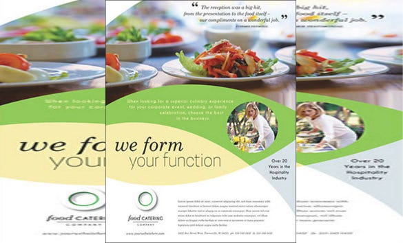 thematic catering flyer template