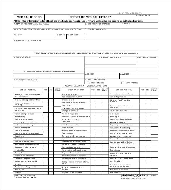 Medical Report Template