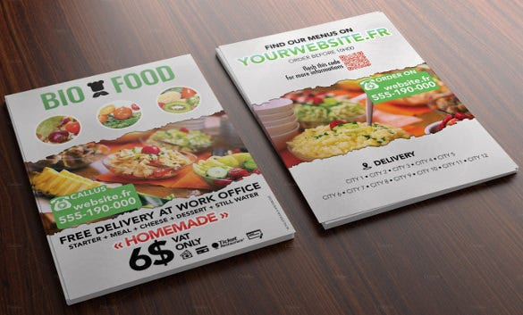 multipurpose catering flyer template