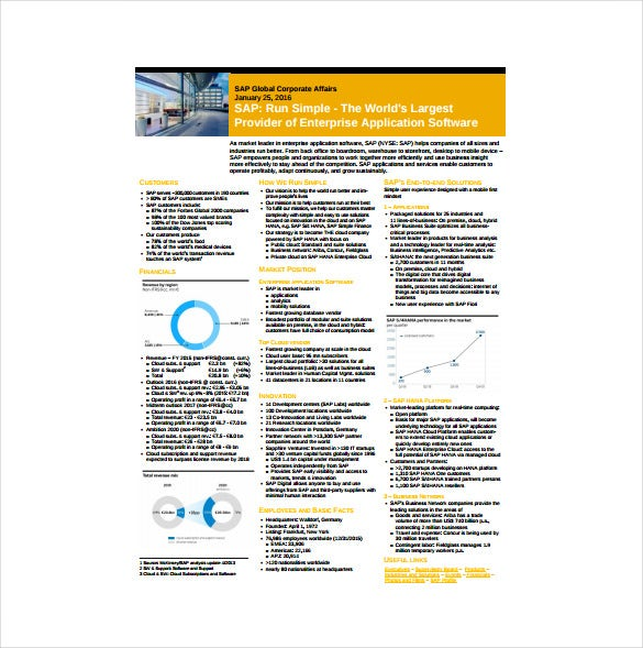 sap corporate fact sheet free pdf download