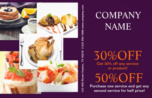catering flyer template with discount