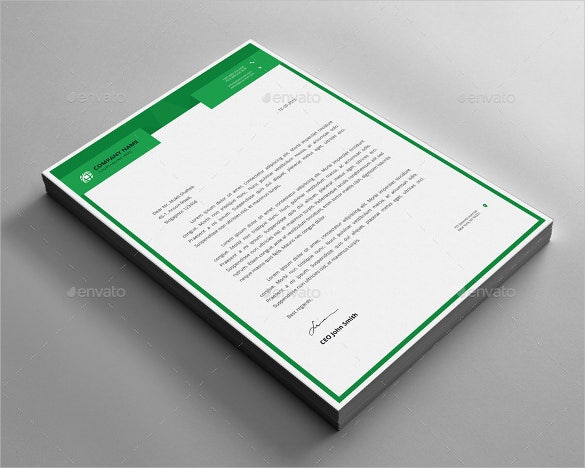 22sample letterhead design