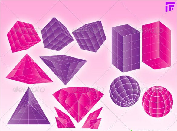3D Geometric Shapes – 15+ Free PSD, EPS Format Download | Free ...