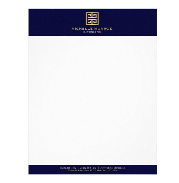 22sample greek key interior designer dk blue letterhead