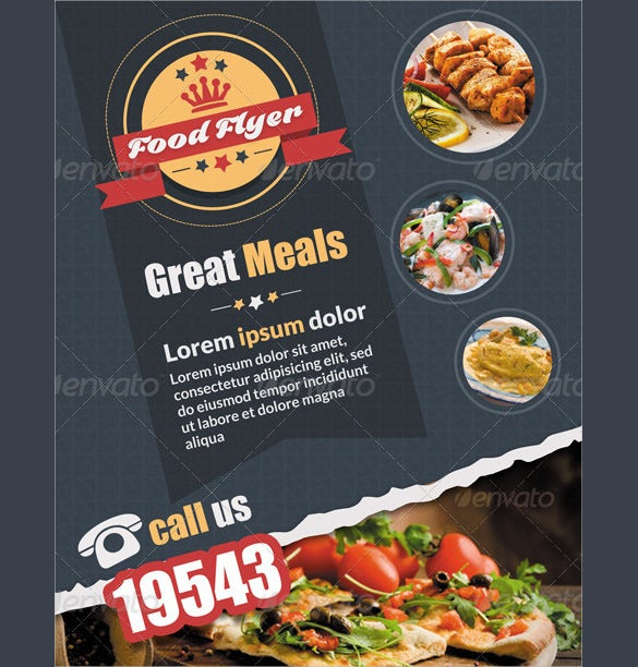 easy to edit catering flyer template