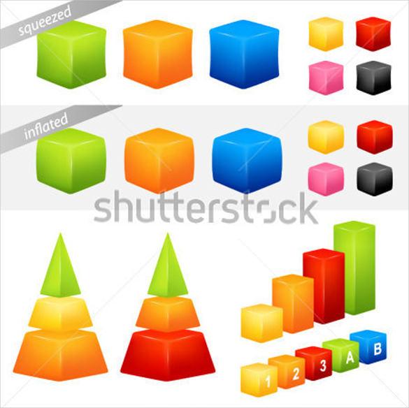geometric 3d shapes template