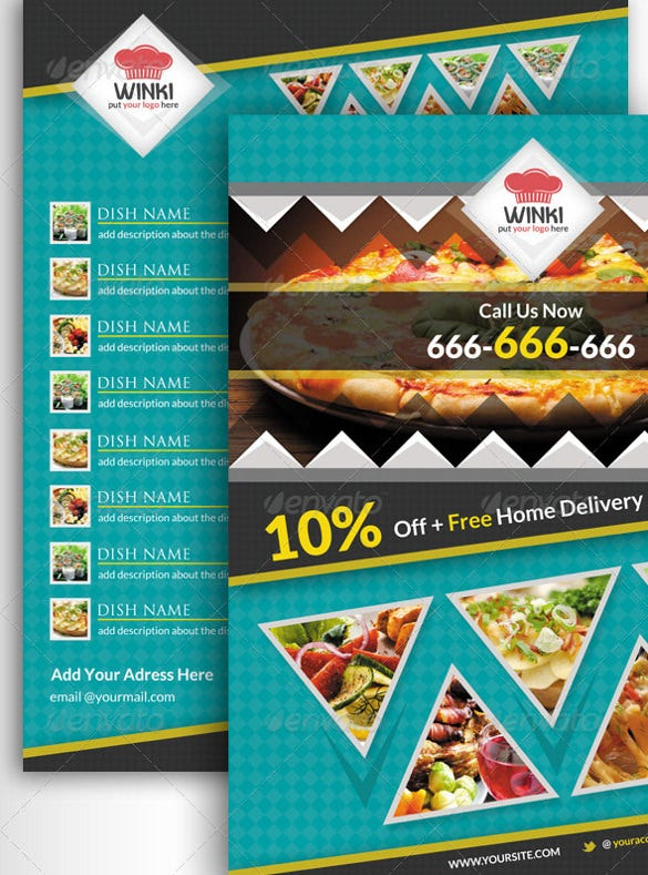 modern food catering flyer template
