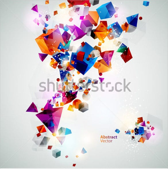 background of 3d geometric shapes template