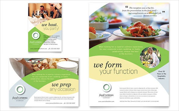 designed catering flyer template