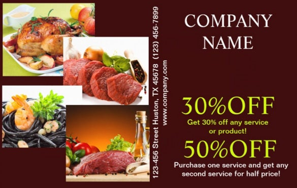 food catering flyer with special offer