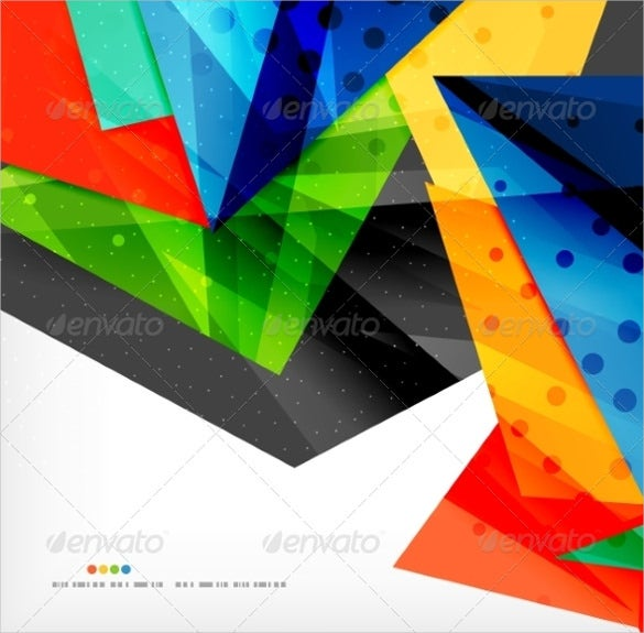 3d abstract geometric shape template