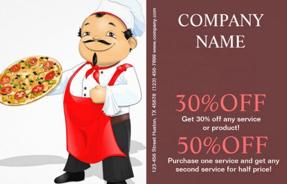 chef logo catering flyer template